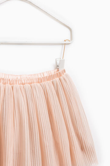 Shirt skirt with elasticated waist, Pink, hi-res