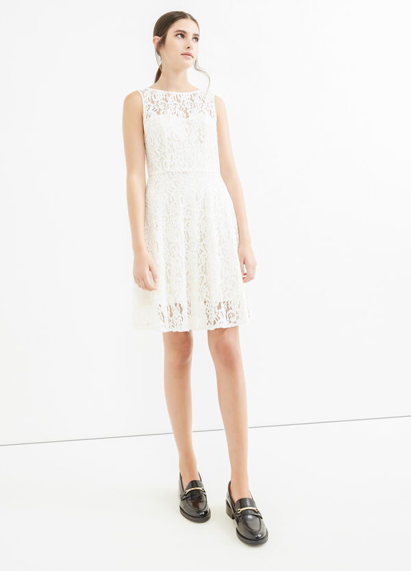 Sleeveless lace dress | OVS