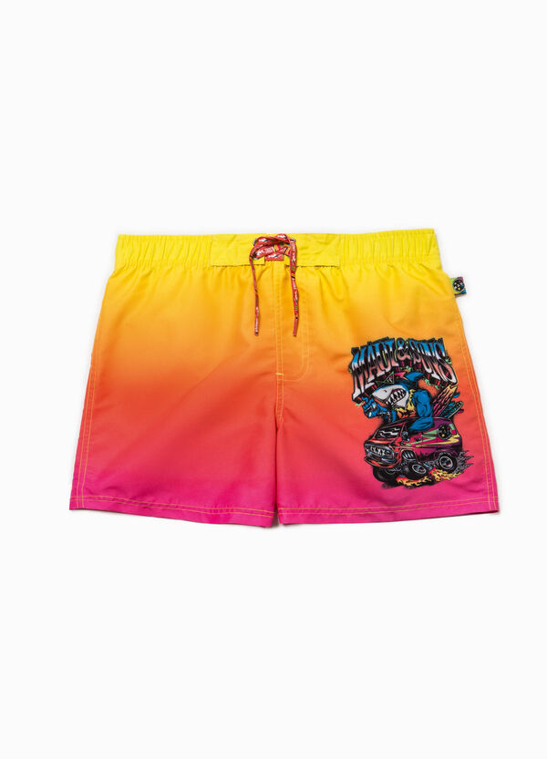Faded-effect swim boxer shorts by Maui and Sons | OVS