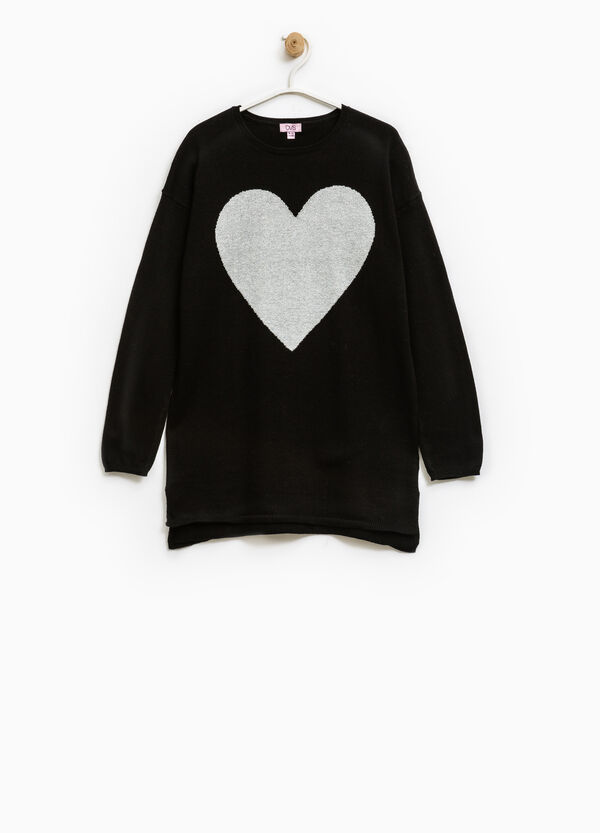 100% cotton oversized pullover with embroidery. | OVS