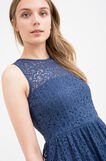 Sleeveless lace dress, Navy Blue, hi-res