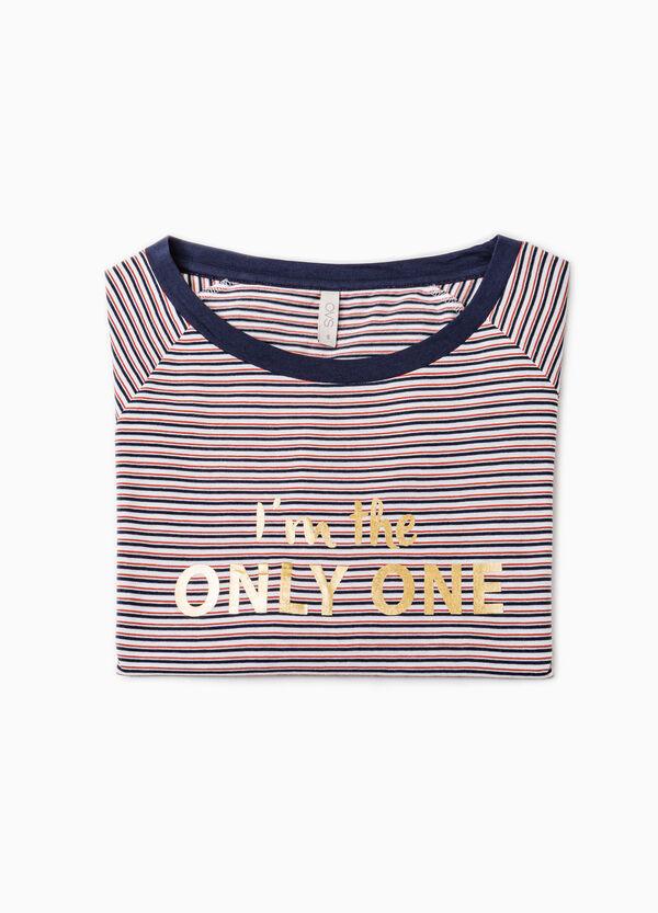 Pyjama top with striped print | OVS