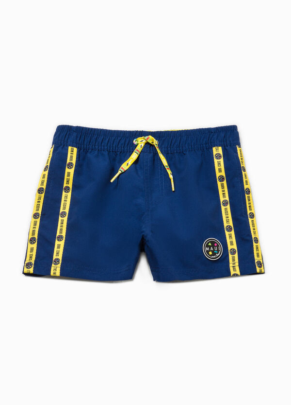 Printed swim boxer shorts by Maui and Sons   OVS