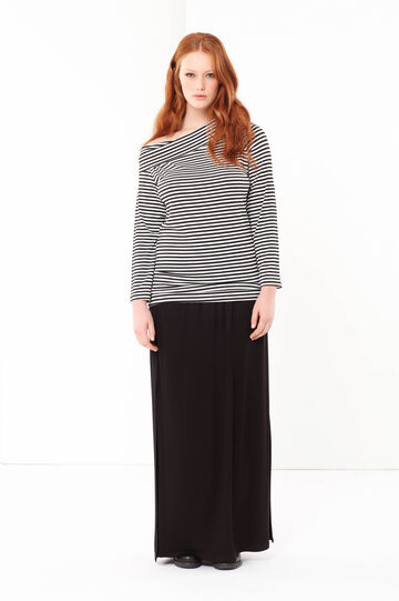 Curvyglam long skirt, Black, hi-res