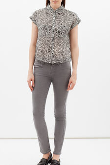 Sleeveless shirt with pockets, Black/White, hi-res