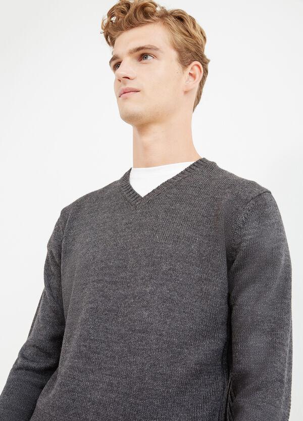 Pullover tinta unita lavorato tricot   OVS
