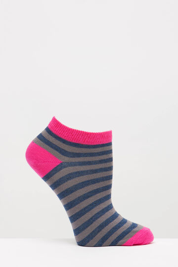 Two-pair pack cotton patterned socks, Blue, hi-res
