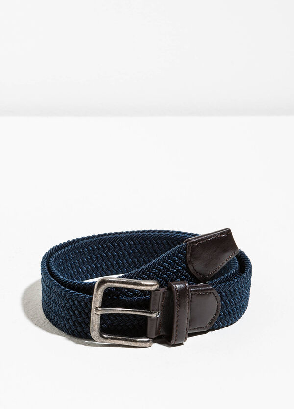 Belt with woven design | OVS