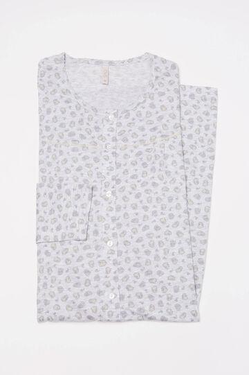 Printed nightshirt, Grey Marl, hi-res