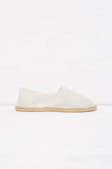 Espadrilles with profiled cord sole, Cream White, hi-res