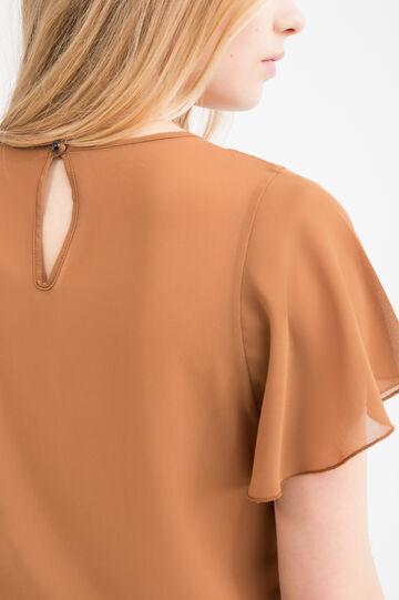 Blusa con inserto traforato, Multicolor, hi-res