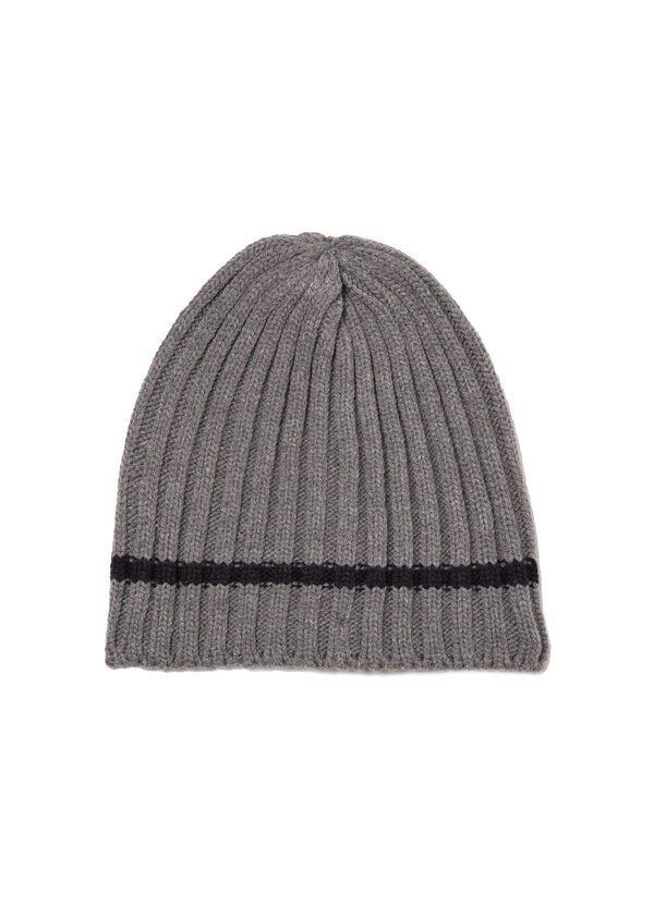 Knitted ribbed beanie cap | OVS