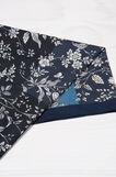 Sciarpa leggera puro cotone floreale, Blu, hi-res