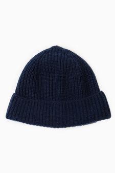 Cappello cuffia cashmere, Blu navy, hi-res
