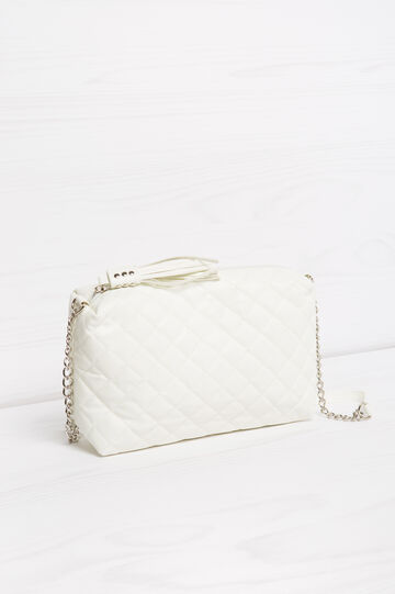 Quilted mini bag with shoulder strap, White, hi-res