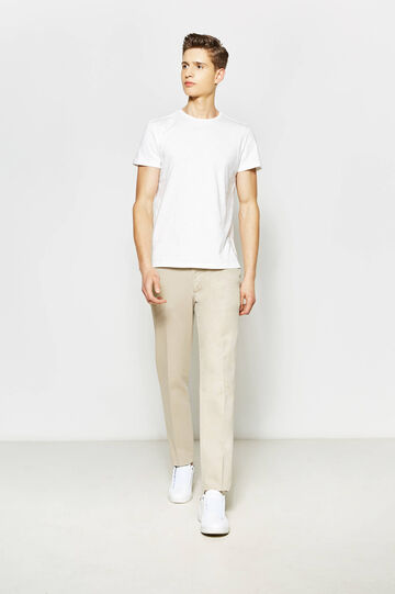 Solid colour 100% cotton T-shirt