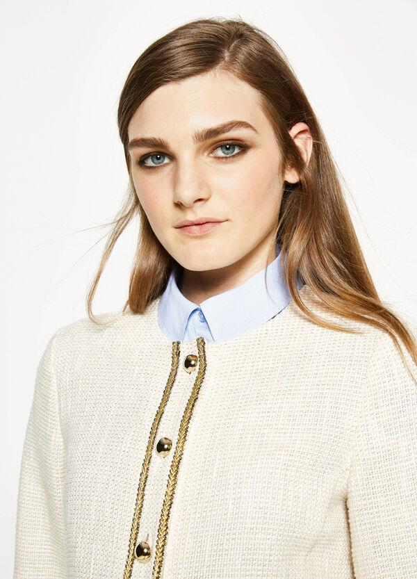 Knitted blazer with round neck | OVS
