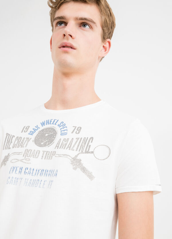 G&H cotton T-shirt with printed lettering | OVS