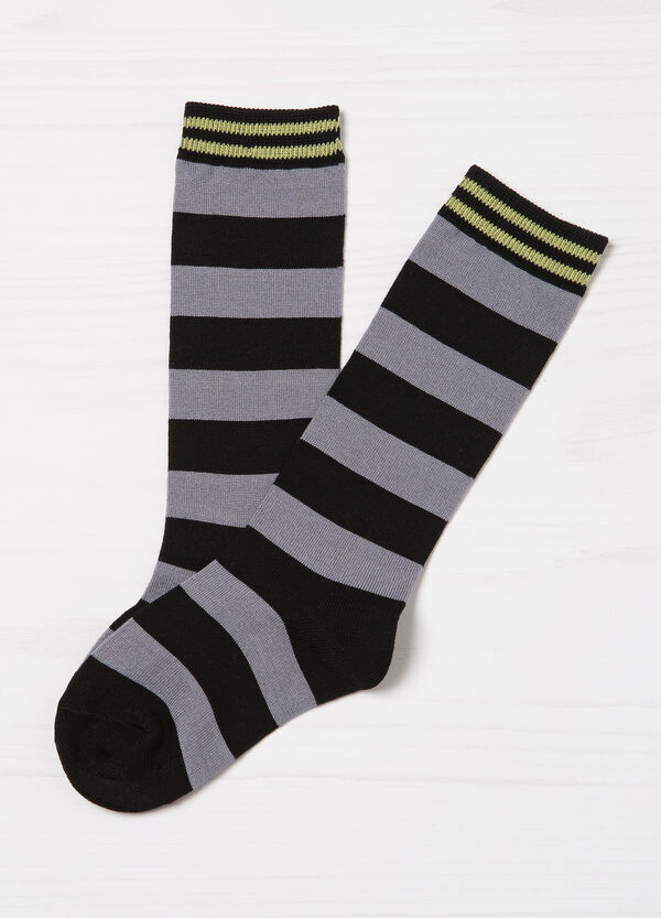 Two-pack stretch patterned socks | OVS