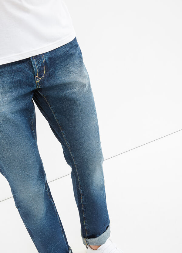 Regular-fit mis-dyed-effect jeans | OVS