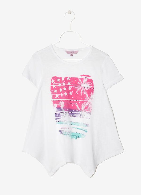 T-shirt con bordo asimmetrico | OVS