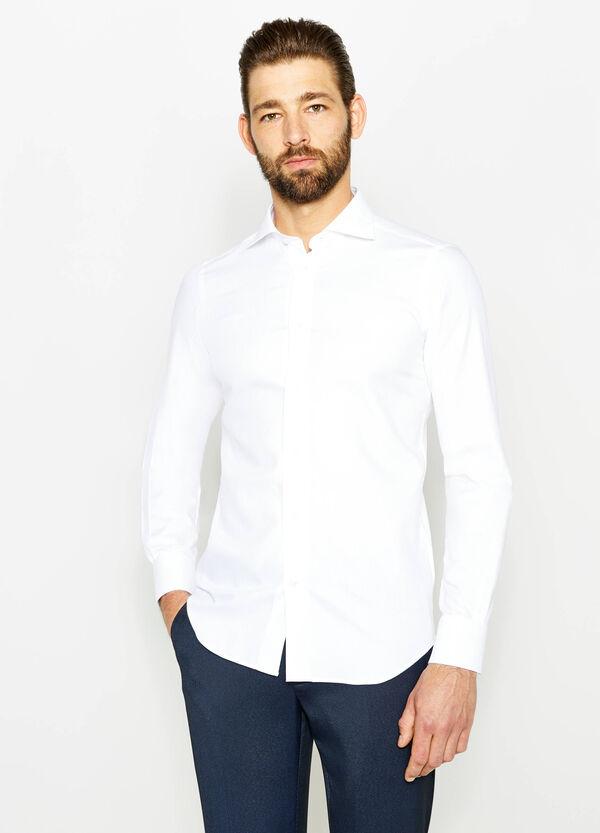 Camisa formal slim fit con trama de rombos | OVS