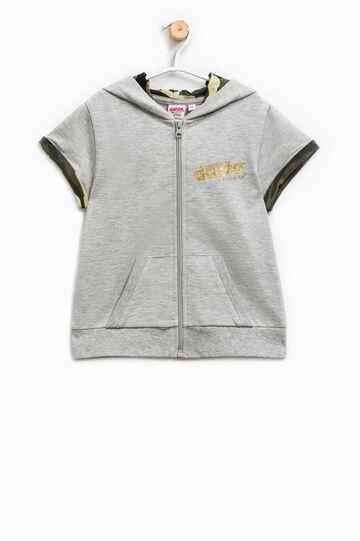 Dimensione Danza sweatshirt with short sleeves, Grey Marl, hi-res
