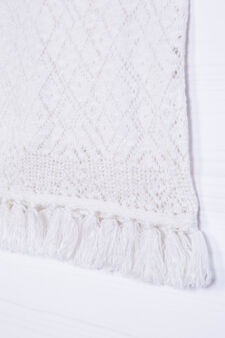 100% cotton top with fringe, White, hi-res