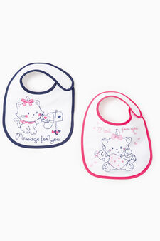 Two-pack printed bibs, Multicolour, hi-res