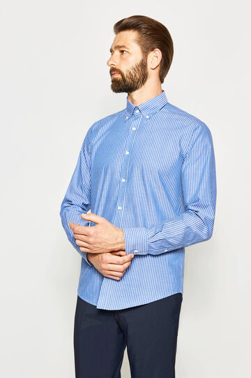 Slim-fit formal striped shirt