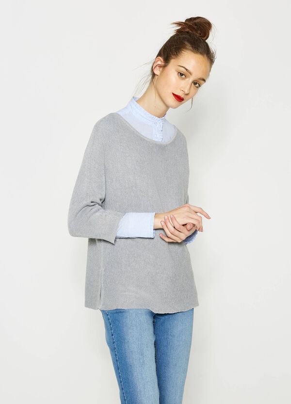 Pullover with raw edges | OVS