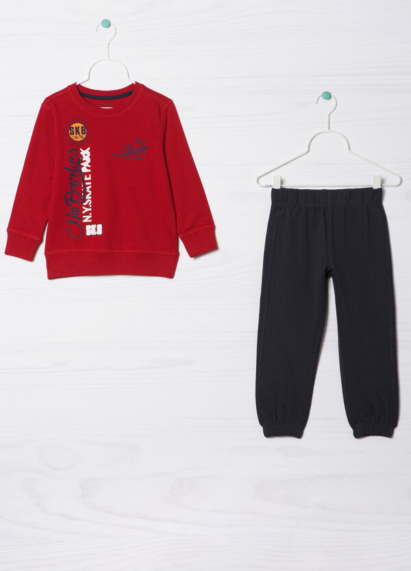 Tracksuit in 100% cotton with print   OVS