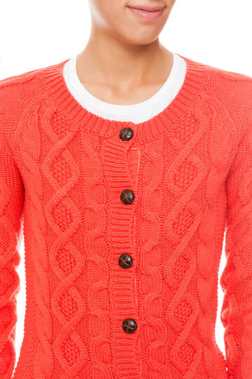 Cardigan tricot, Lobster Red, hi-res