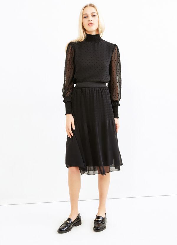 Midi skirt with elasticated waist. | OVS