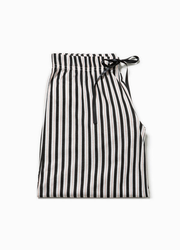 Pantalón de pijama de rayas en tejido de viscosa | OVS