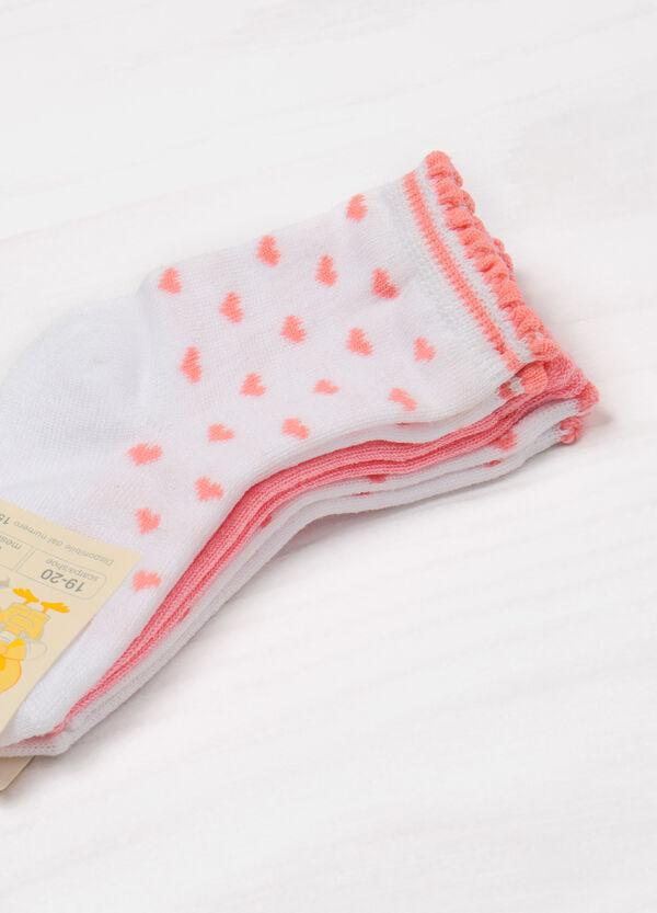 Set tre paia di calze stretch ricami | OVS