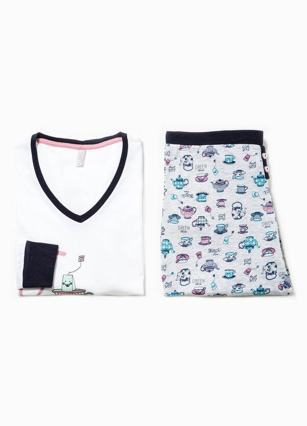 Pijama con estampado en contraste | OVS