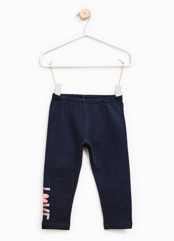 Cotton trousers with printed lettering | OVS