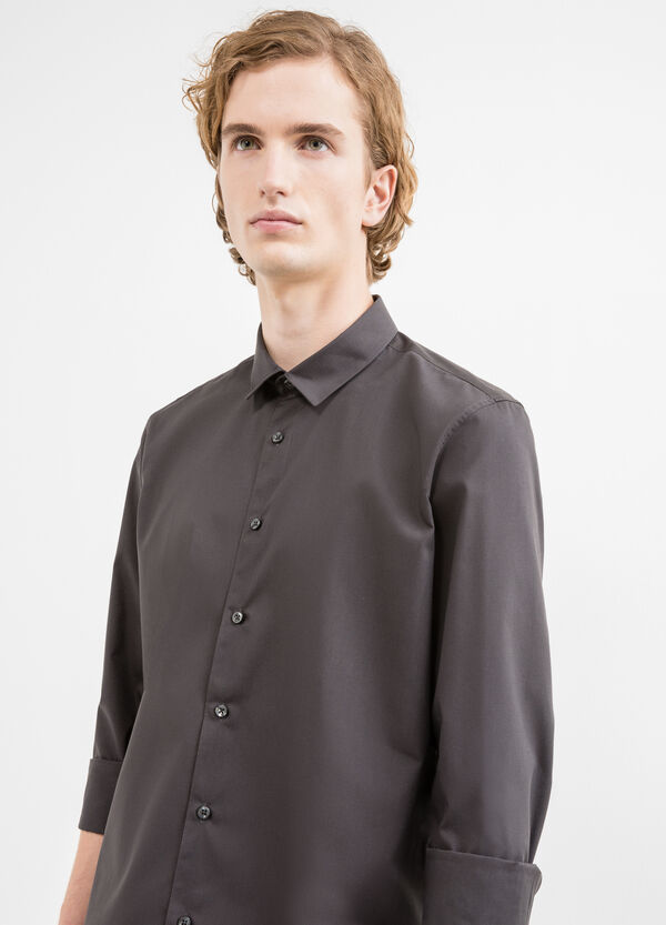 Camicia casual slim fit in misto cotone | OVS