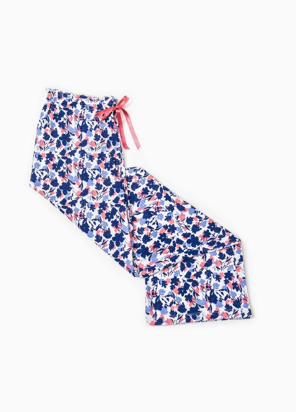 Floral cotton pyjama trousers | OVS