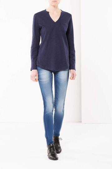 Jeans skinny fit con fasce laterali, Lavaggio scuro, hi-res