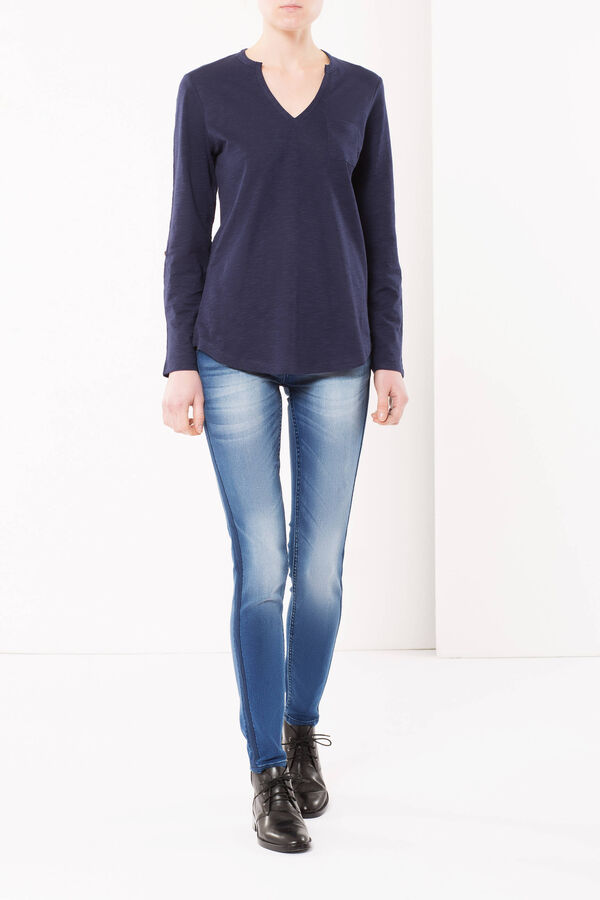 Skinny fit jeans with side bands | OVS