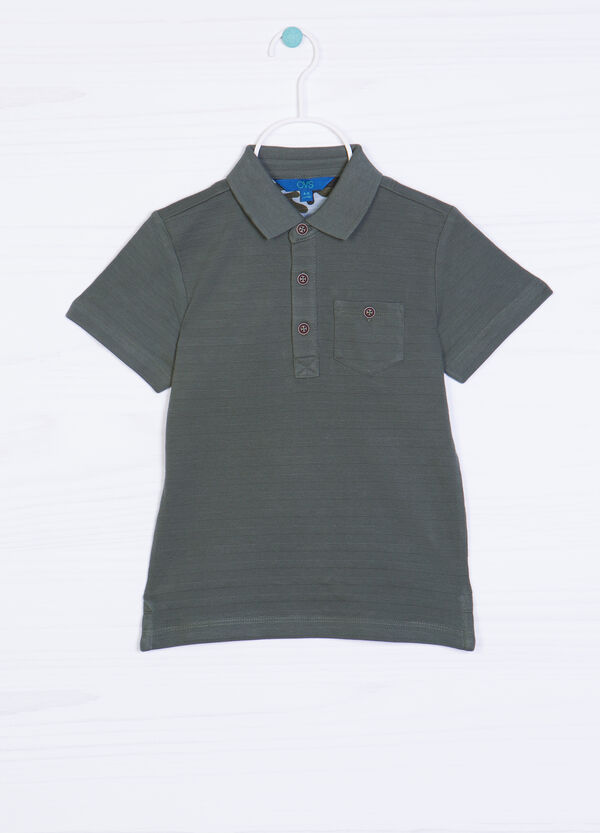 Solid colour polo shirt in 100% cotton | OVS