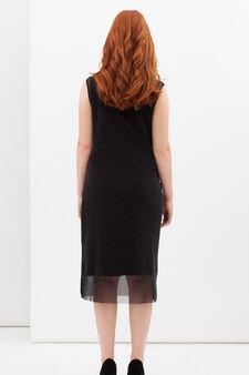 Curvyglam dress with lurex, Black, hi-res