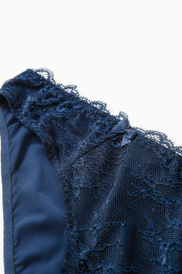 Stretch lace briefs with bows, Dark Blue, hi-res