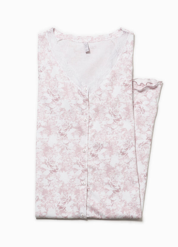 Patterned nightshirt with lace   OVS
