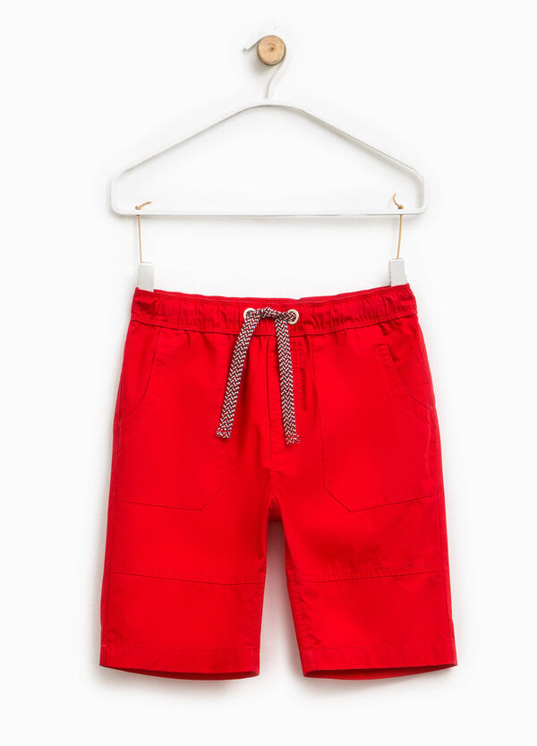 Cotton Bermuda shorts with drawstring | OVS