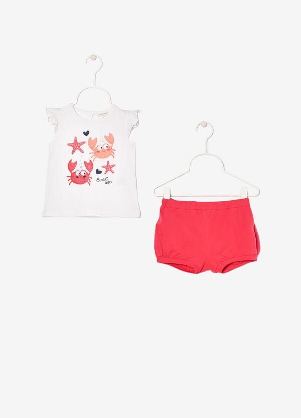 Completino t-shirt smanicata e shorts | OVS