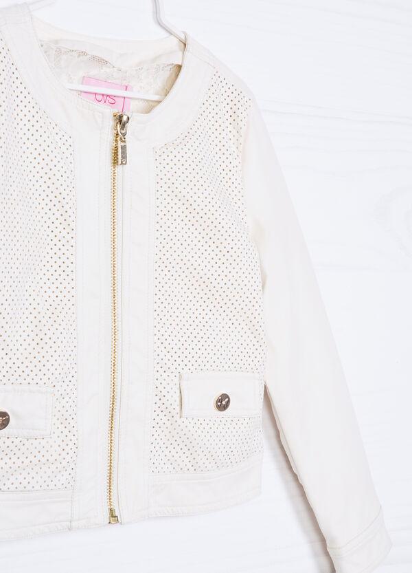 Solid colour jacket in viscose blend | OVS