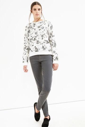 Jeans stretch skinny fit tinta unita, Grigio, hi-res